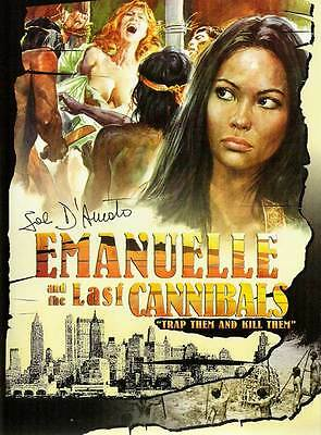 EMANUELLE AND THE LAST CANNIBALS Movie POSTER 27x40 • 13.44£