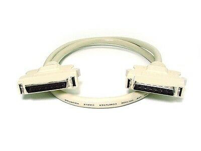 $19.33 • Buy 6ft 50 Pin Half Pitch D Subminiature HPDB50 Male To M HDD SCSI Cable