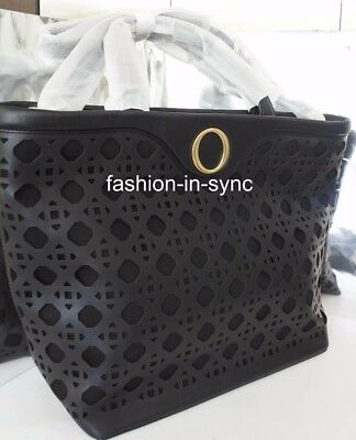 AU249 • Buy OROTON Safari Tote Handbag Crossbody Black Leather Gold Tone Hardware SALE
