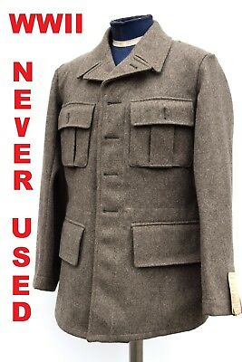 Vintage Swedish Army Fitted Wool Coat / Jacket / Tunic WWII M39. NEW, 1940 • 24.99£