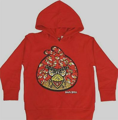 £19.16 • Buy Angry Birds Pullover Hoodie 4-5 XS 6-7 M 10-12 L 14-16 18 New Child Sweatshirt