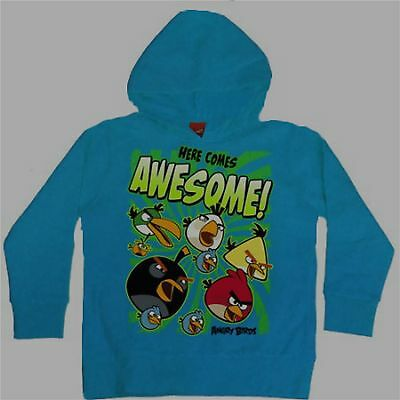 £21.29 • Buy Angry Birds Pullover Hoodie 10-12 Large New Child Sweatshirt Here Comes Awesome