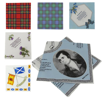 £4.75 • Buy New Party Burns Night Paper Napkins Serviettes - Range Of Designs (Pack Of 20)