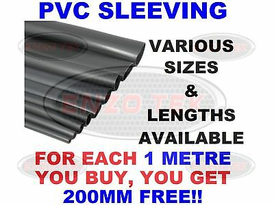 Pvc Electrical Sleeving Wire Cable Black, All Sizes & Lengths • 2.51£