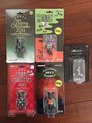 $115 • Buy Medicom Bearbrick Lot Halloween Christmas 2010 2011 2012 Kaws Futura