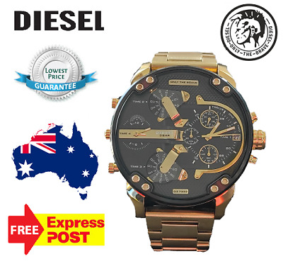 AU237 • Buy New Authentic Diesel Dz7333 Mr Daddy 2.0 Gold/black Chronograph Mens Watch