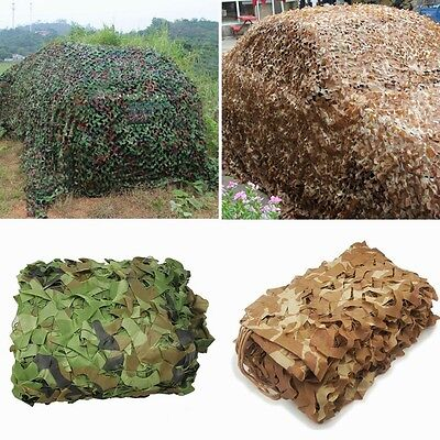 $21.99 • Buy Woodland Desert Leaves Camouflage Camo Army Net Netting Camping Military Hunting
