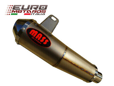 $437.89 • Buy Kawasaki ZX6R 05-06 MassMoto Exhaust Slip-On Low Side Silencer Tromb Titan Curve
