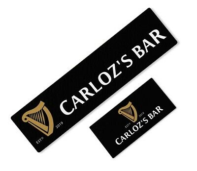 Personalised Guinness Beer Label Bar Runner Ideal For Home Pub Beer Mat Occasion • 16.19£