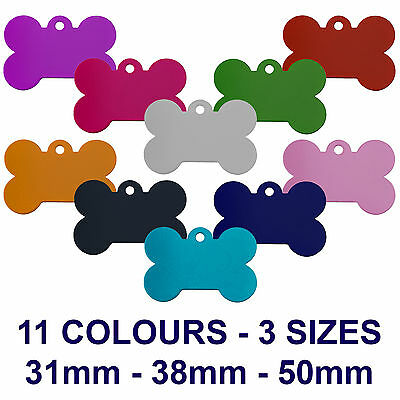 Alloy Bone Engraved Dog/cat Id Name Tag Disc Personalised Pet Identity Tags • 2.99£