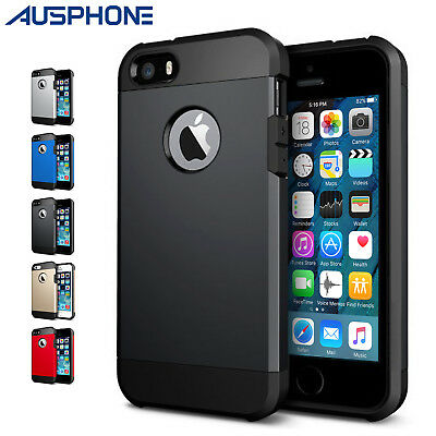 AU4.95 • Buy Hybrid Heavy Duty Hard Tough Armor Case Cover For Apple IPhone 8 7 6 S & Plus OZ