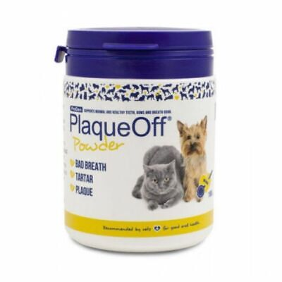 Plaque Off Tooth Powder For Dogs & Cats Bad Breath And Tartar Removal - 180g • 35.99£