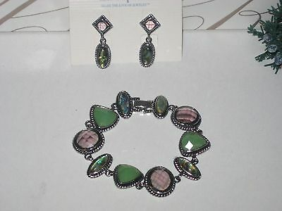$ CDN43.92 • Buy LOT OF 2: Lia Sophia LAURYN, BY DEB BRACELET AND EARRINGS SET - GORGEOUS & RARE