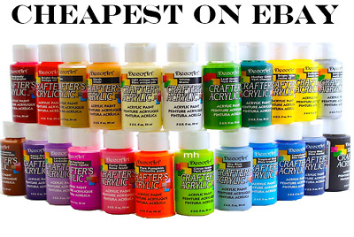 £1.99 • Buy 2oz Decoart Crafters Acrylic Paint All Colours Art Craft Water Based Artist New