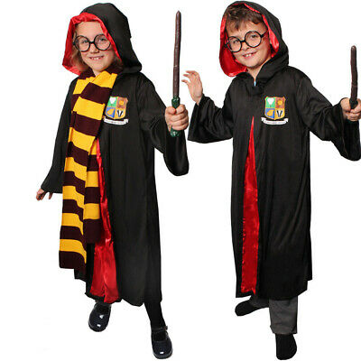 $ CDN26.44 • Buy Childs Wizard Costume Boys Girls Book Week Fancy Dress Optional Glasses And Wand