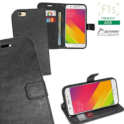 AU7.99 • Buy Black Wallet Flip Card Slot Stand Case Cover For Oppo F1s A59