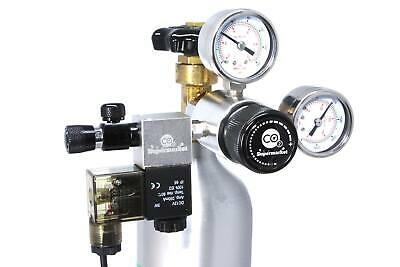 CO2 Regulator With Solenoid, Dual Gauges & Adjustable Output Pressure • 127.99£