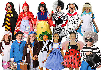 Girls World Book Day Fancy Dress Costume Child School Book Week Choose Character • 12.99£