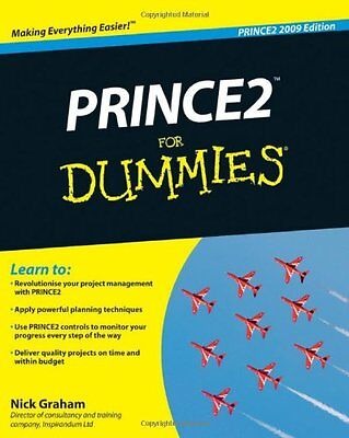 £20.89 • Buy PRINCE2 For Dummies 2009 By Nick Graham