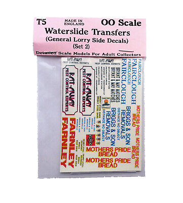 Lorry Set 1 Waterslide Transfers T5 Colour OO Scale Langley Models Decals 1/76 • 6.66£