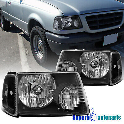 $68.98 • Buy For 2001-2011 Ford Ranger Black Headlights+Corner Turn Signal Lights