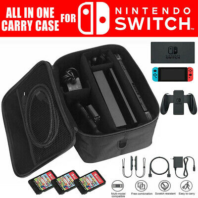 $12.59 • Buy For Nintendo Switch Console Accessory Storage Carrying Travel Case Bag Black