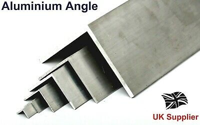 £7.21 • Buy Extruded L Shaped Aluminium Equal ANGLE - 13 Sizes Available Bandsaw Cut