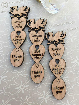 £24.99 • Buy Personalised Welsh Dragon Wooden Love Spoons Favours, Vintage Wedding Decoration