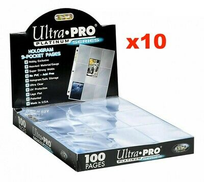 AU3.99 • Buy 10 X ULTRA PRO PLATINUM TRADING CARD 9 POCKET SLEEVES PAGES MTG YUGIOH POKEMON