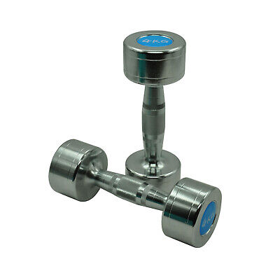 AU109.95 • Buy 4kg X 2 Chrome Fixed Solid Dumbell - Commercial Grade Hand Weight Total 8kg