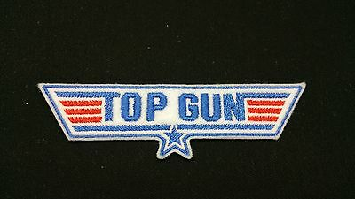 £3.60 • Buy Top Gun Blue Embroidered Patch, Badge Iron On Or Sew On
