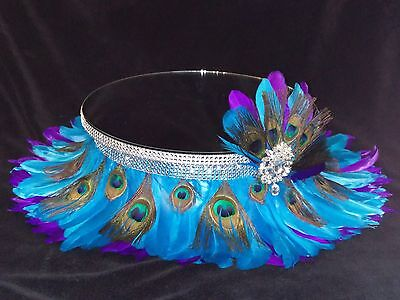 Peacock Feather & Diamante Wedding Cake Stand Separator All Sold Separately  • 74.46£