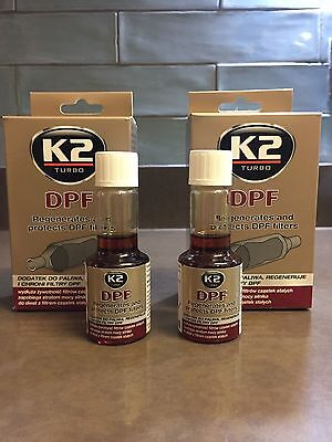 2 X K2 DPF DIESEL Additive Concentrated Particulate Filter Cleaner - 50ml • 7.99£