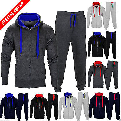 New Mens Tracksuit Set Fleece Hoodie Top Bottoms Joggers Gym Trackies Jogging  • 9.94£