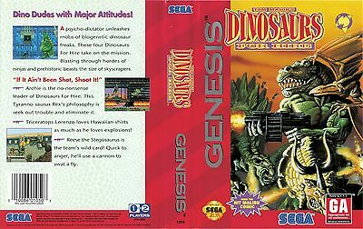 £3.99 • Buy - Dinosaurs For Hire Genesis NTSC Replacement Box Art Case Insert Cover Only