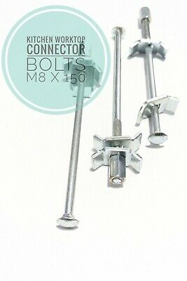 £12 • Buy Kitchen Worktop Connection Bolts M6 X 150mm Joining Clamps VB5-150