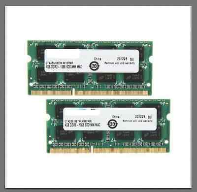 $ CDN48.88 • Buy 8GB Kit 2x 4GB DDR3 1600MHz PC3-12800 Sodimm Laptop RAM Memory MacBook Pro Apple