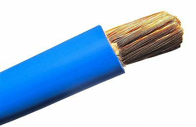 Welding Cable Blue #2 AWG GAUGE COPPER WIRE SAE J1127 CAR BATTERY SOLAR POWER • 15.99$