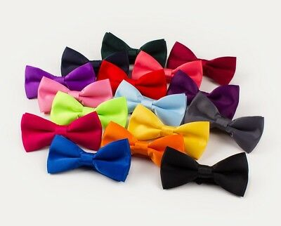 New Baby Toddler & Boys Girls Quality Pre Tied Satin Feel  Bow Tie Dickie Bow • 3.99£