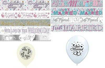Wedding Day & Just Married  Banners Party Decorations  • 1.89£