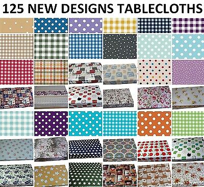 Wipe Clean Pvc Tablecloth Wipeable Vinyl  Oilcloth Rectangle Table Cover • 12.39£