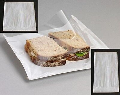 £4.35 • Buy Film Fronted Paper Bags With See Through Window For Sandwiches,Cards,Cakes,Food
