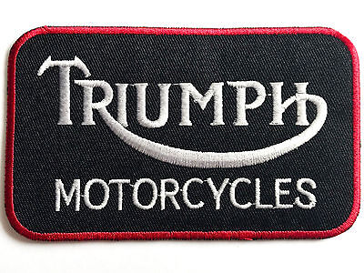 EMBROIDERED TRIUMPH MOTORCYCLE PATCH Large Cloth Iron On Collectors Jacket Badge • 3.70£