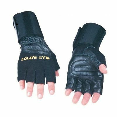 £6.99 • Buy Gold Gym LEATHER WRIST RAP SUPPORT WEIGHT LIFTING GLOVES EXERCISE TRAININ Uneed