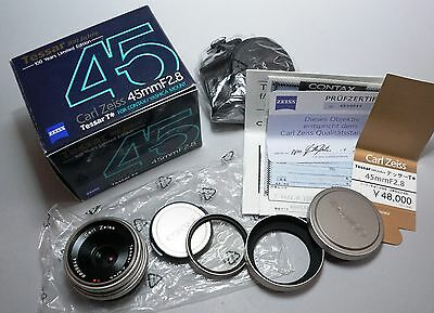 $699.99 • Buy CONTAX Carl Zeiss Tessar 45mm F/2.8 45/2.8 T* 100 Jahre Limited Lens In Box
