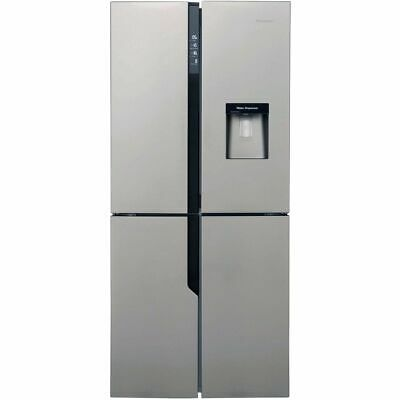 View Details Hisense FMN431W20C 79cm Frost Free American Fridge Freezer Stainless Steel • 529.00£