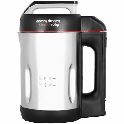 Morphy Richards 501014 Sauté And Soup 1.6 Litres Soup Maker Stainless Steel New • 55£
