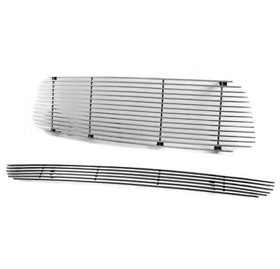 $76.95 • Buy For 01-04 Tacoma Upper + Bumper Billet Grille Grill Insert Combo Replacement