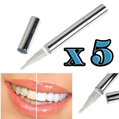 AU20.15 • Buy 5 Pack Professional Teeth Whitening Pen Touch Up Bleaching Bright Smile Kit
