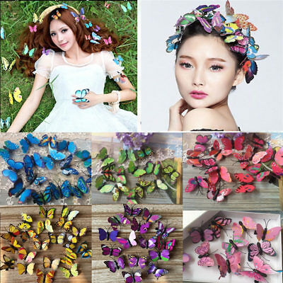 $ CDN1.75 • Buy Lot Butterfly Hair Clips Bridal Hair Accessories Wedding Photography Costume